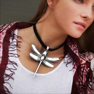 Ivana Ruzzo dragonfly leather necklace